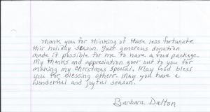2013 Barbara Thank You