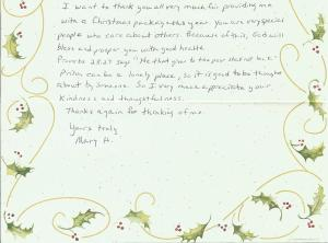 2013 Mary Thank You